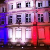 VILLE DE BARR FOLIE MARCO / VIALIS Lighting design / Concept Light encastré et Projecteu RGBW dans fosse