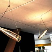 Suspension Bouteille sur mesure Concept Light / COLMAR HOTEL / DI NISI Architecte