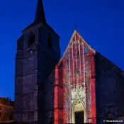 Cathedrale de Puisaye / CL PROFILE LED 200W / Lighting designer Thomas Klug / France